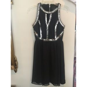 Black Dress with Studded Detail